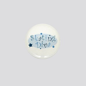 """Skating Diva"" [blue] Mini Button"